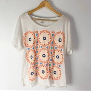 J.Crew Graphic Collector Tees T-shirt Top Pastel